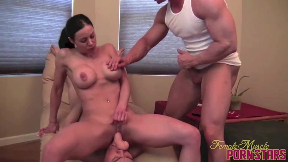 Massive Tits Riding Dildo