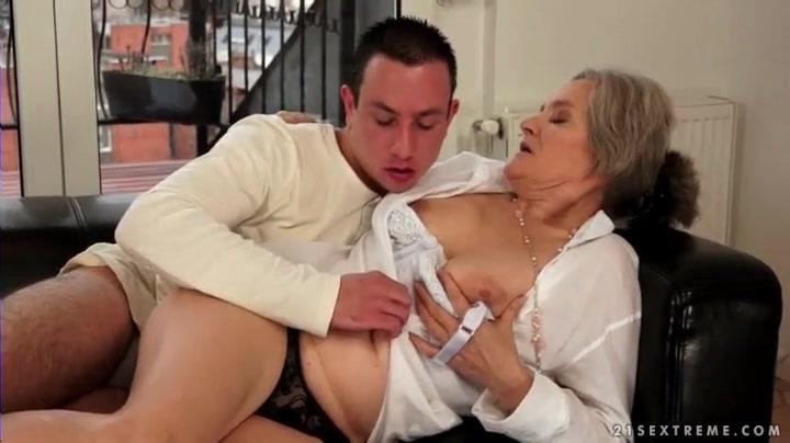 Kissing grandma porn