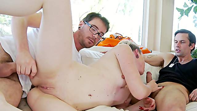 Guy using anal suction