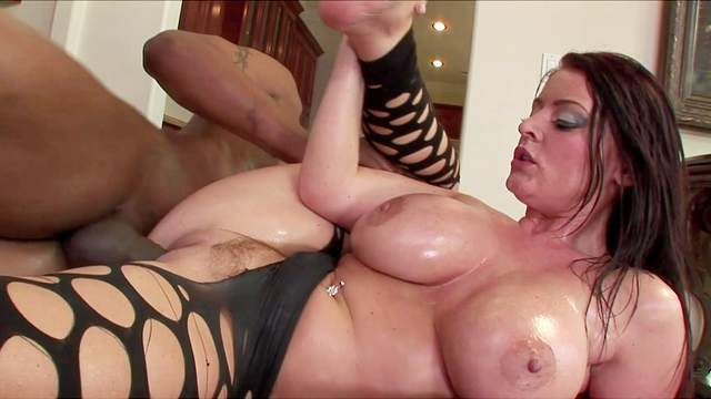 Dazzling MILF ends hard interracial tryout with full facial